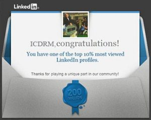 iCDRM among top searches in LinkedIN